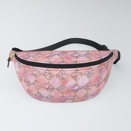 Luxury Gold and Pink Glitter effect oriental pattern Fanny Pack