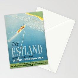 Affiche  Travel Poster Estland Estonia Sweden Ferry Stationery Cards