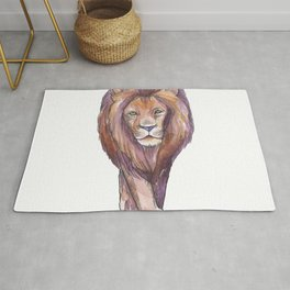 Lion- Watercolor Art Painting Rug