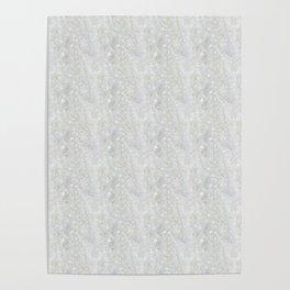 White Apophyllite Close-Up Crystal Poster