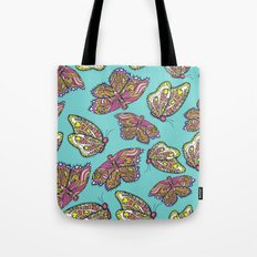 heart and butterflies Tote Bag