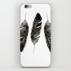 Three feathers iPhone & iPod Skin