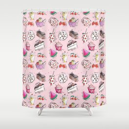 Food Love Shower Curtain