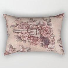 Guns & Flowers Rectangular Pillow