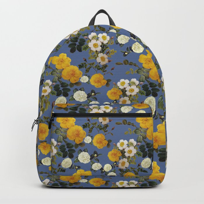 Autumn gold floral roses Backpack