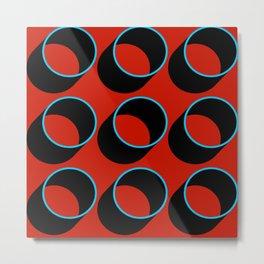 Tubes on Red Metal Print