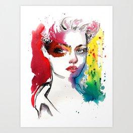 Vivid. Fashion illustration Art Print