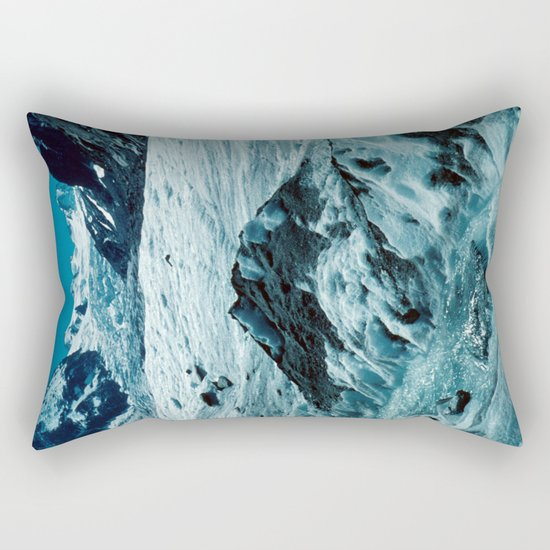 MELTING ICE #1 - Up in the Mountains Rectangular Pillow