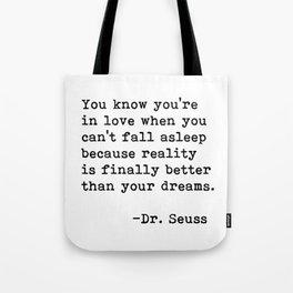 Dr. Seuss Quote 09 Tote Bag