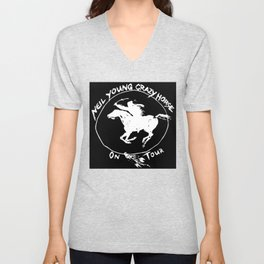 neil young crazy horse tour 2020 2021 ngamein Unisex V-Neck