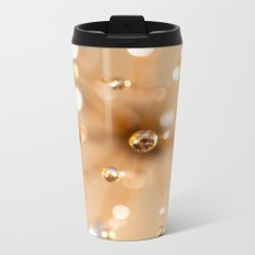 Queen Anne's Lace in Gold Metal Travel Mug