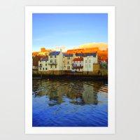 Whitby Harbour Art Print
