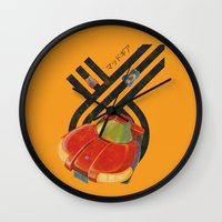 led zeppelin Wall Clocks featuring Led Storm by Slippytee Clothing