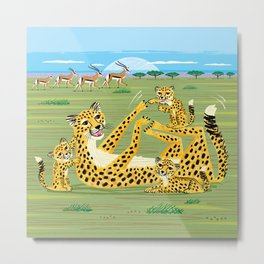 Cheetahs and Gazelles Metal Print