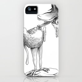 Crazy Bird iPhone Case