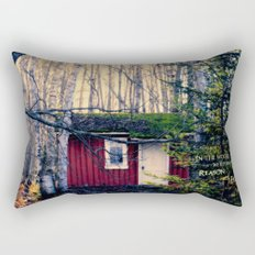 Cabin in the Woods (Emerson quote) Rectangular Pillow
