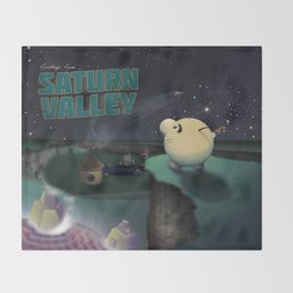 Earthbound - Greetings From Saturn Valley Throw Blanket
