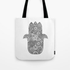 Hamsa - B&W Tote Bag