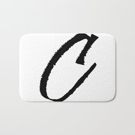 Letter C Ink Monogram Bath Mat