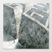 labyrinth Canvas Prints featuring LABYRINTH by Daniele Vittadello