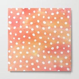 Dots Orange Metal Print