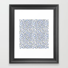 Blue and Grey Apples Framed Art Print