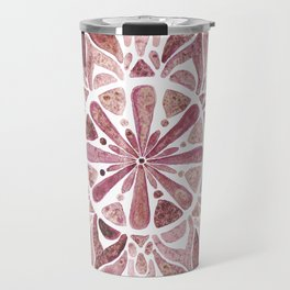 Watercolor Mandala III burgundy Travel Mug
