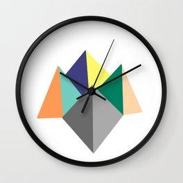 Paku Paku, original colours on white Wall Clock