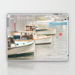Lobster Boats In Bass Harbor Mount Desert Island Maine  Laptop & iPad Skin