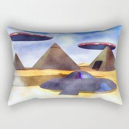 Ancient Aliens - UFO Pyramids Rectangular Pillow