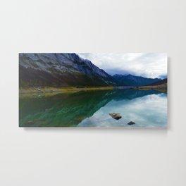 Reflections in Medicine Lake in Jasper National Park, Canada Metal Print