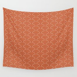 Orange Fish Scales Wall Tapestry