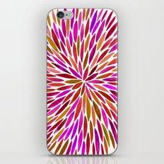 Pink Watercolor Burst iPhone & iPod Skin