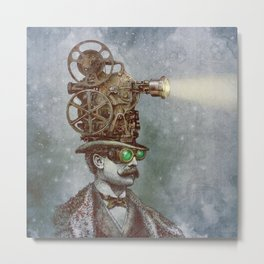 The Projectionist (colour option) Metal Print