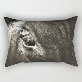 Stare Down With A Black Angus Rectangular Pillow