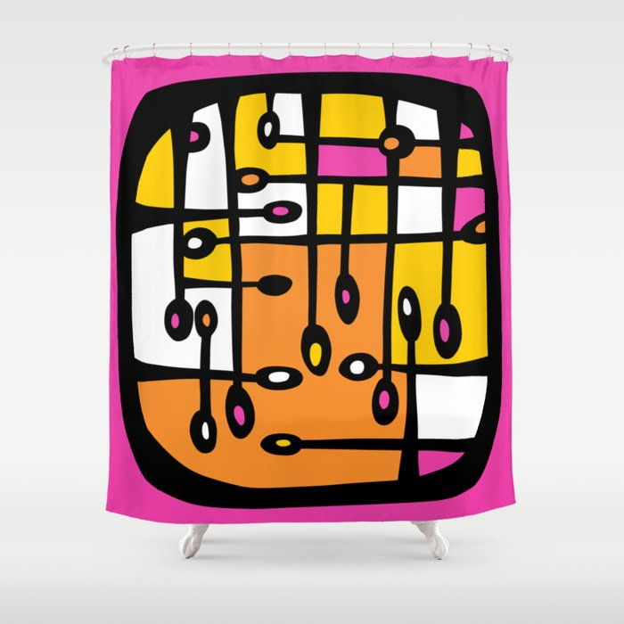 Dot #3 by lalalamonique Shower Curtain