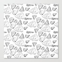 Perfect Pencil Pizza Time! Canvas Print