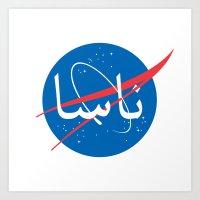 nasa Art Prints featuring Nasa | Arabic by Ziad Aljewair