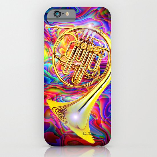 Psychedelic French horn iPhone & iPod Case
