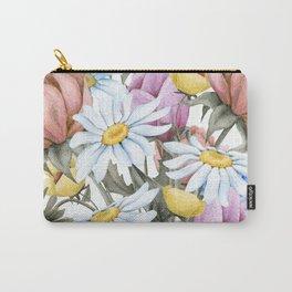 Summer Floral Watercolour Bouquet Carry-All Pouch