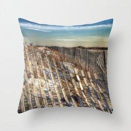 Winter Scape - Jones Beach Throw Pillow