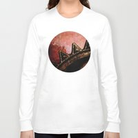industrial Long Sleeve T-shirts featuring Industrial Sunset by Bella Blue Photography