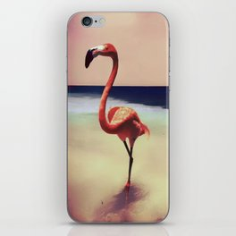 Flamingo beach iPhone Skin