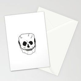 Skull with braces Stationery Cards