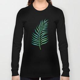 Palm Leaves_Bg White Long Sleeve T-shirt