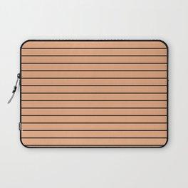 Thin Black Lines On Peach Laptop Sleeve