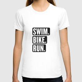 Swim Bike Run Block 1 T-shirt