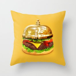 Burger Calling Throw Pillow