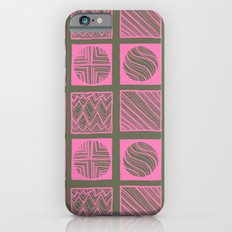 Green Squares iPhone 6s Slim Case