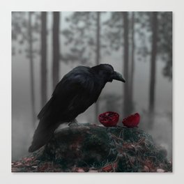 The Poet In The Forest Canvas Print